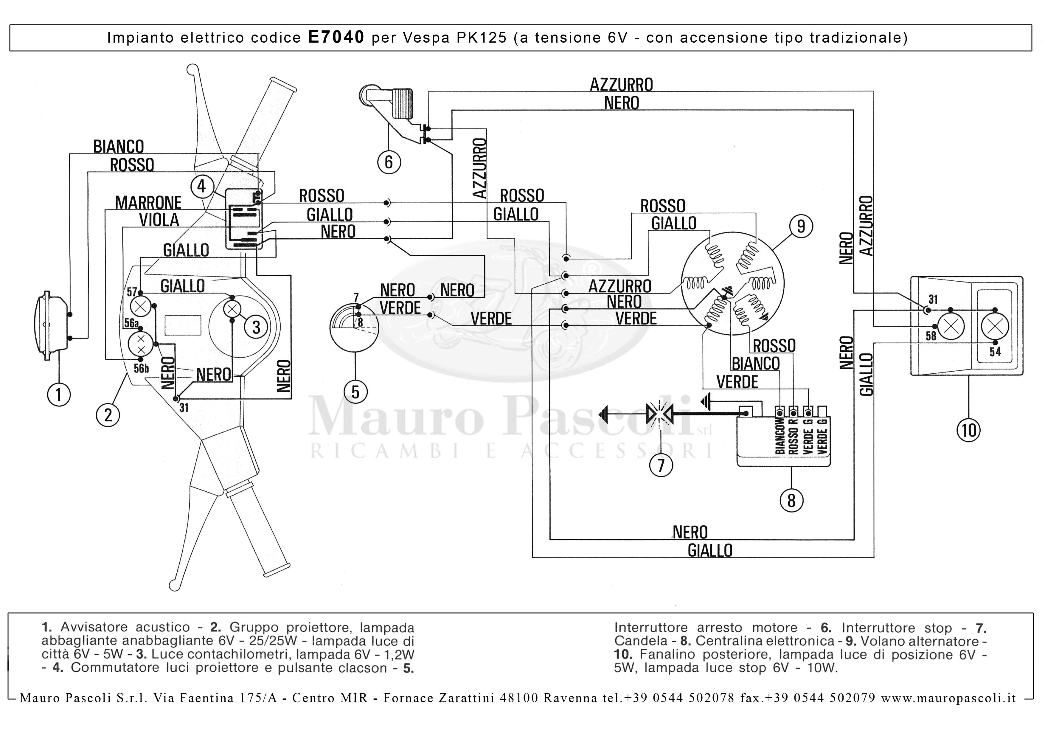 Vespa Pk 125s  A Tensione 12v