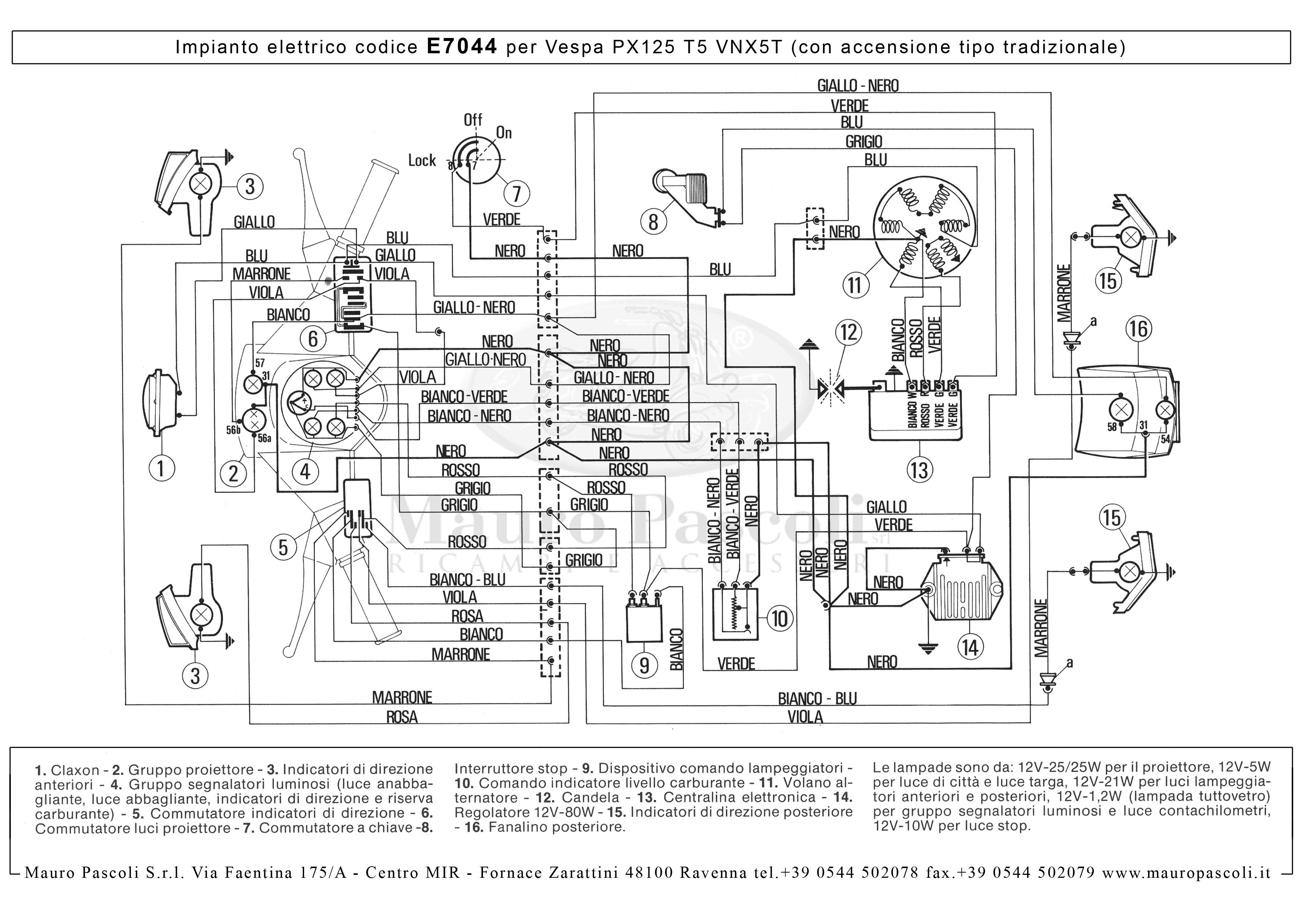 Schema Elettrico Hm 50 : Schema elettrico vespa px e u tutto su idee di immagine del