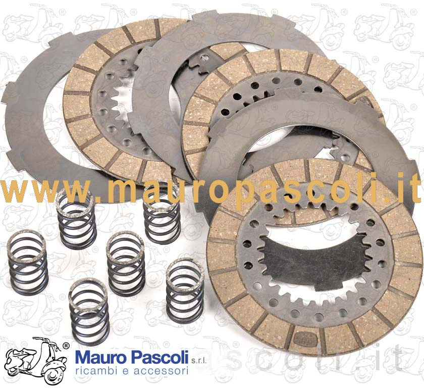 Clutch assembly (trimmed discs +steel discs + springs)
