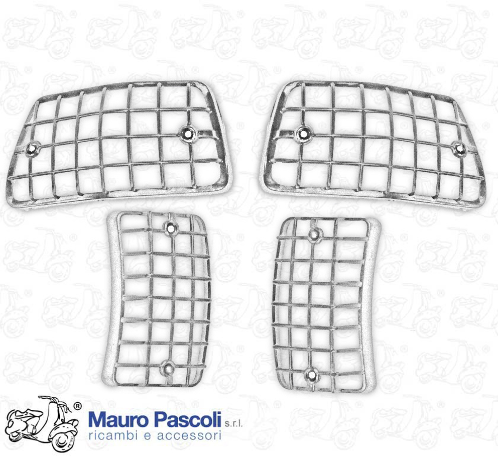 KIT 4 SERIES OF GRAY PLATES IN CHROMED PLASTIC, FOR FLASHERS