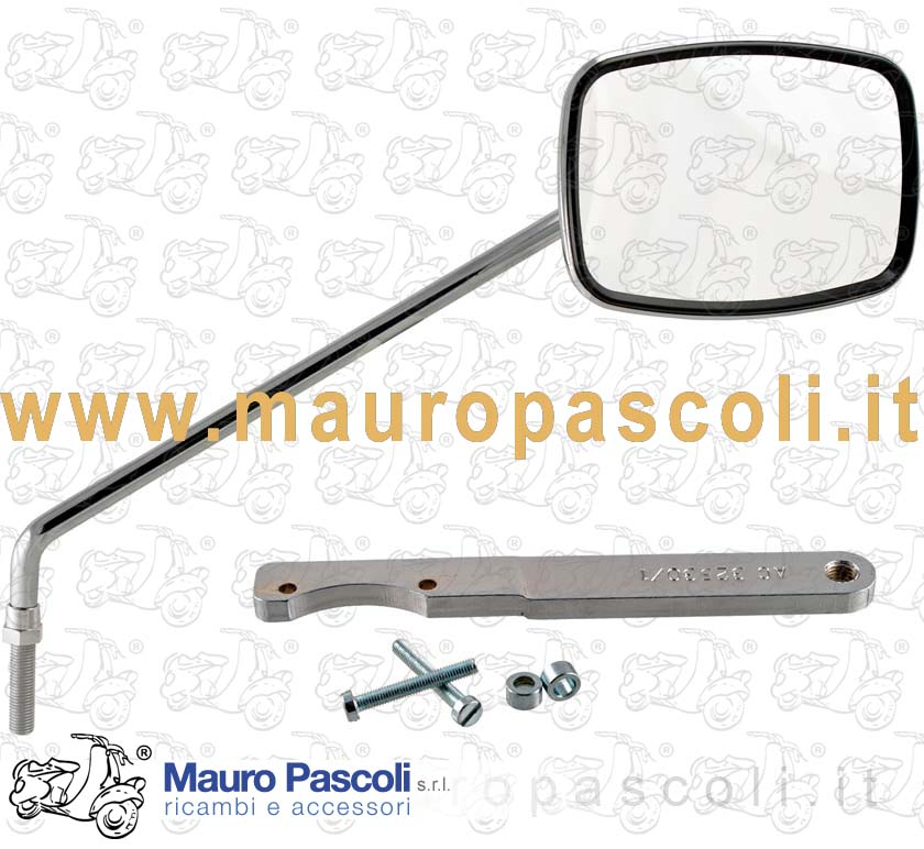 Chromium-plated mirror with bracket