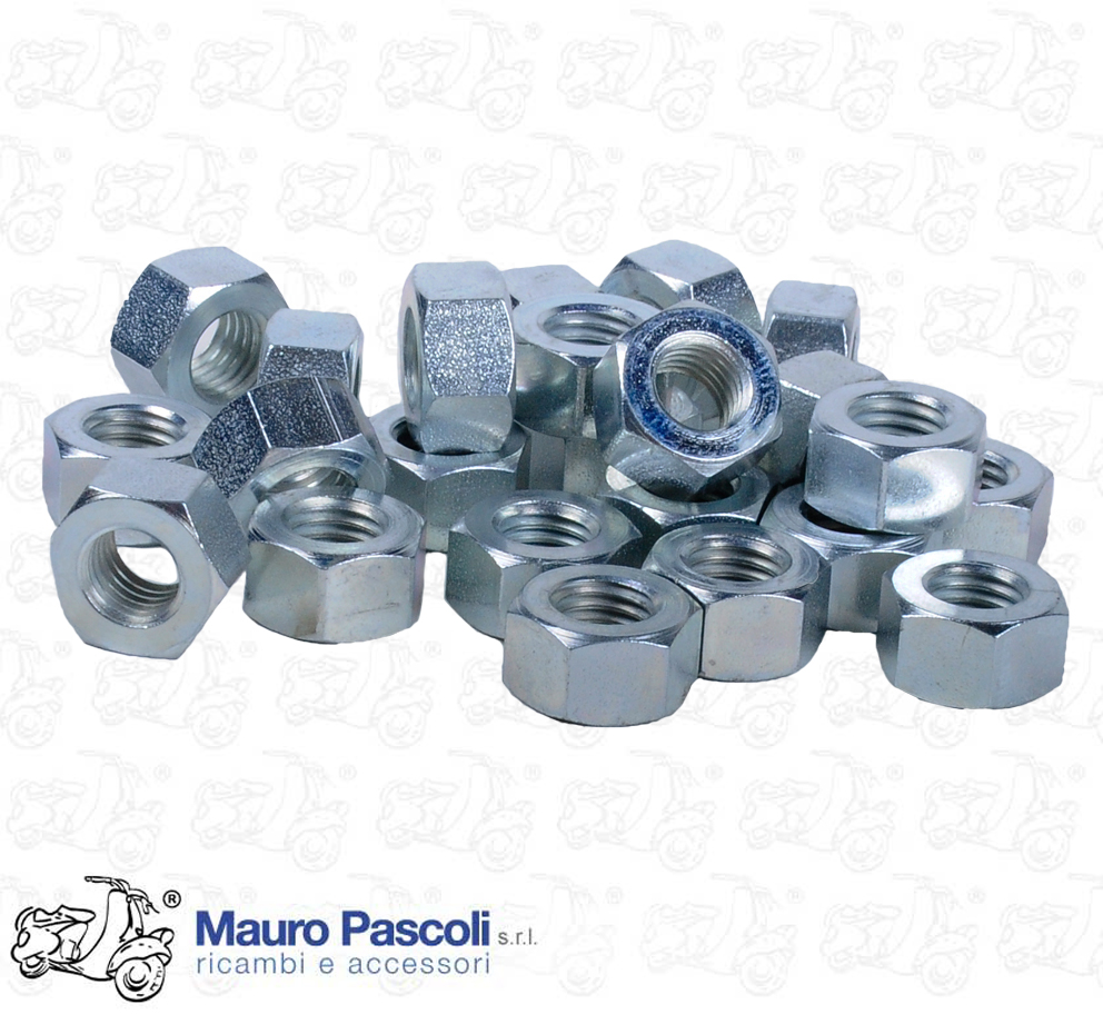 KIT 24 DADI MM 9 X 1,25 KEY 14 H 7,9 - ZINC PLATED FOR WHEEL RIM UNION.