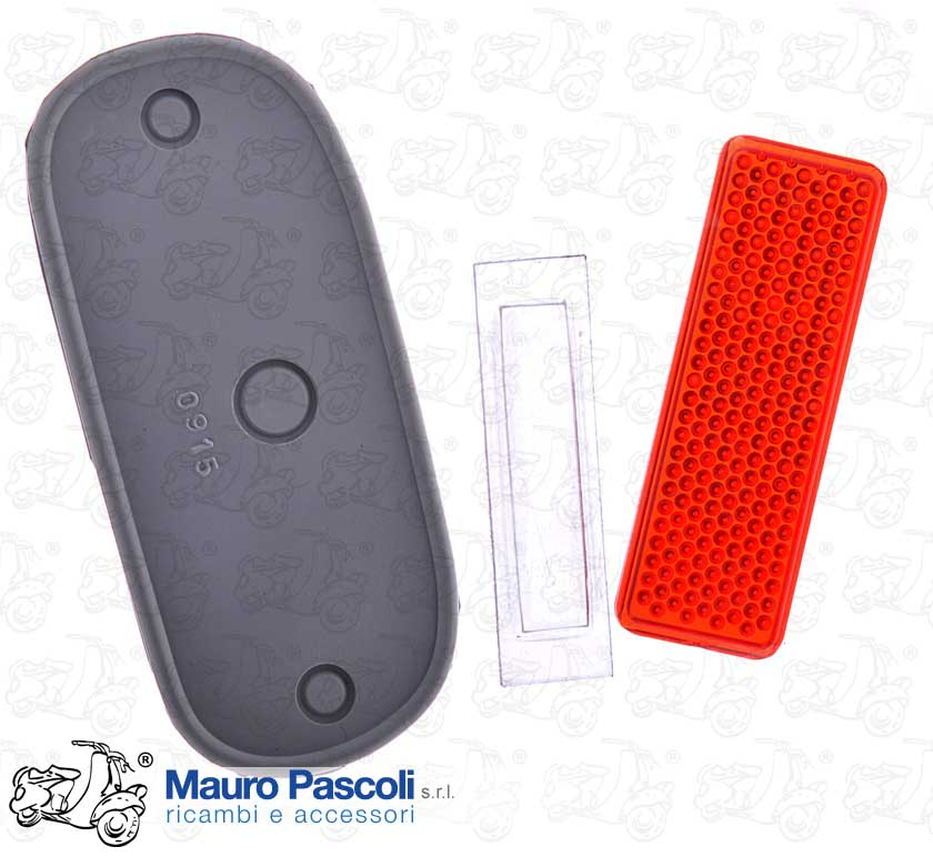 Kit plastic reflector, transparent plate light, gasket