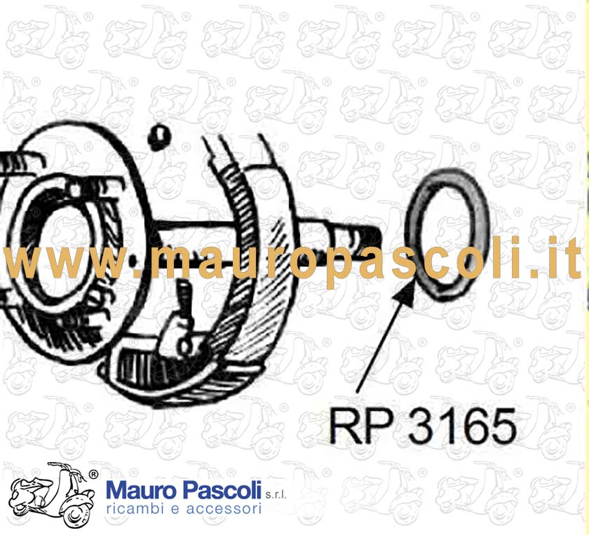 Gasket (front wheel axle)