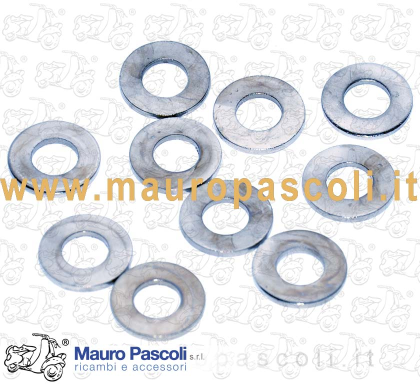 FLAT WASHERS NICKEL FINISH, INTERNAL DIAMETER 8 MM
