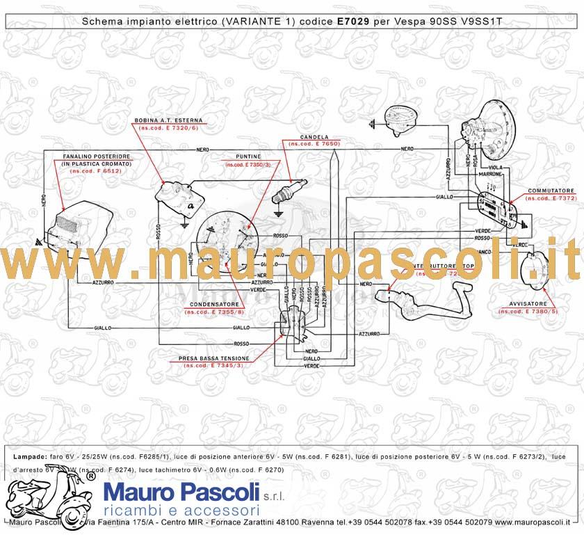 Schema Elettrico Ape 50 Monofaro : Schema elettrico ape tl t fare di una mosca