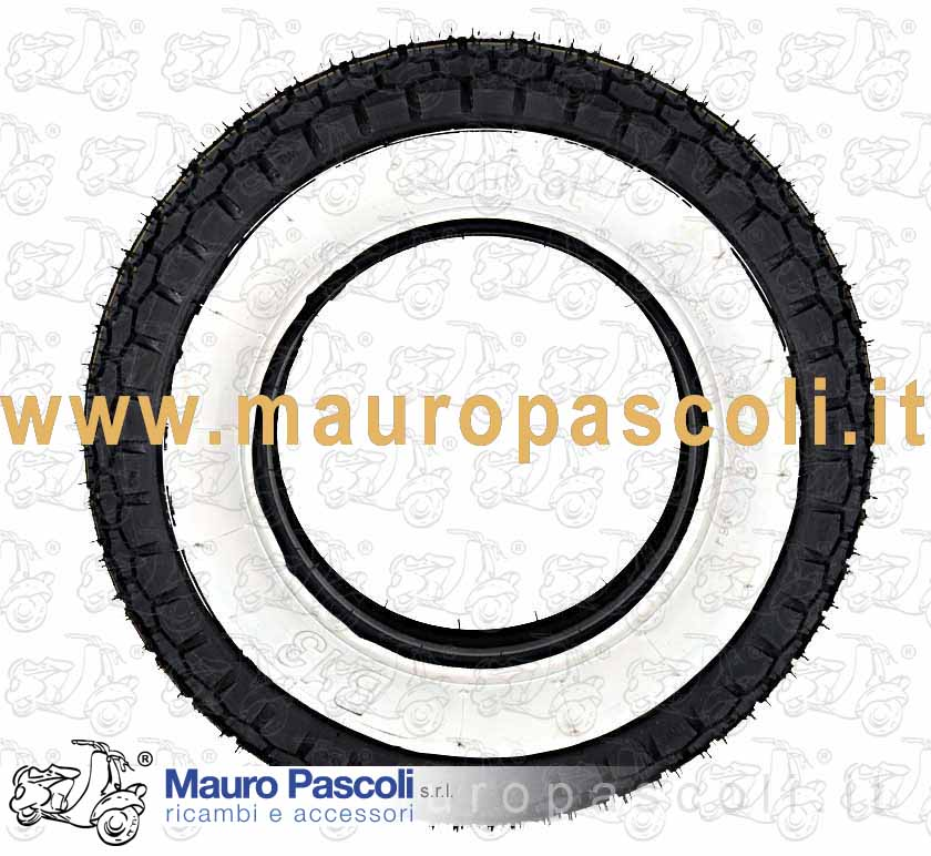 TIRE WHITE / BLACK - SIZE 3 - 50 - 8 - B-13 BRAND SAVA OR MITAS.