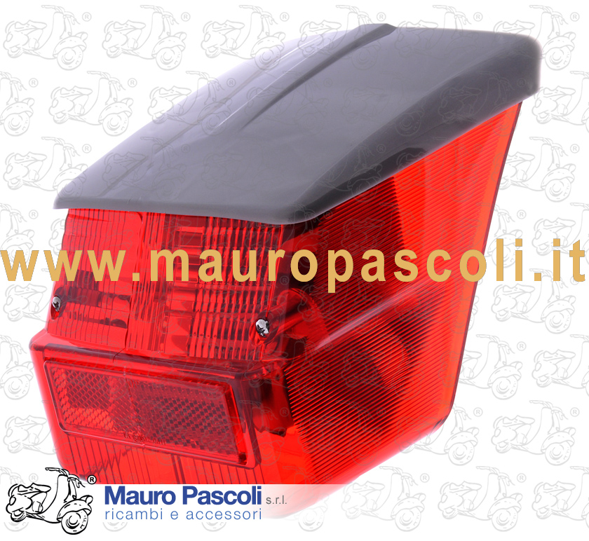 With metal support for lamps, Tail lamp and visor GREY