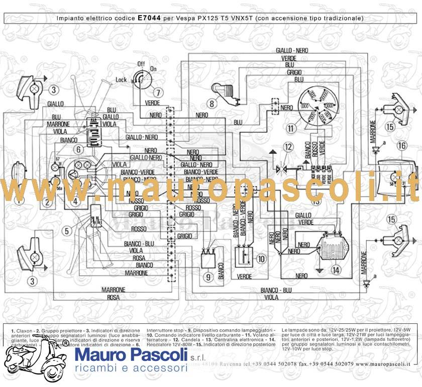 Schema Elettrico Ape Tm 703 : Gruppo cavetti impianto elettrico mauro pascoli