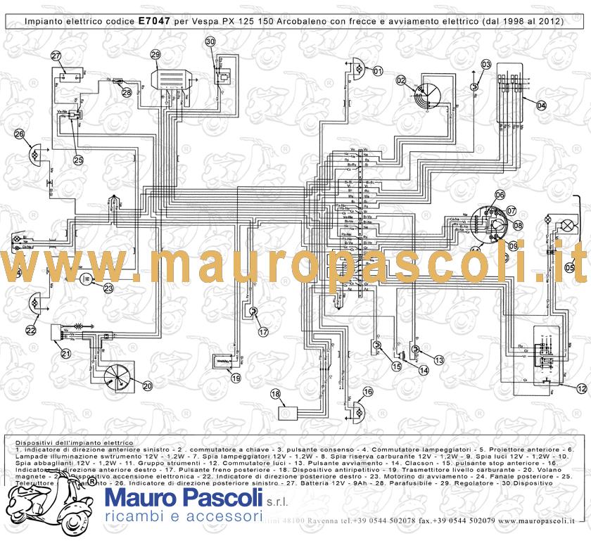 Schema Elettrico Vespa Px 125 : Schema impianto elettrico vespa px e fare di una mosca