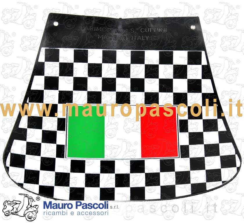 Mud flaps checkered pattern Italy