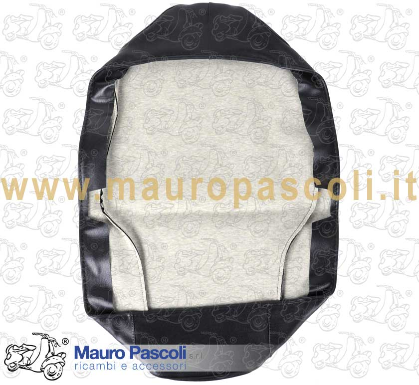 Seat Cover blue Piaggio with black trim  without written silkscreened