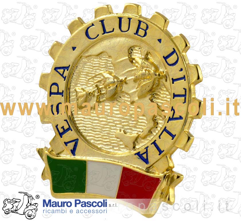 Nameplate Vespa Club (with adhesive)