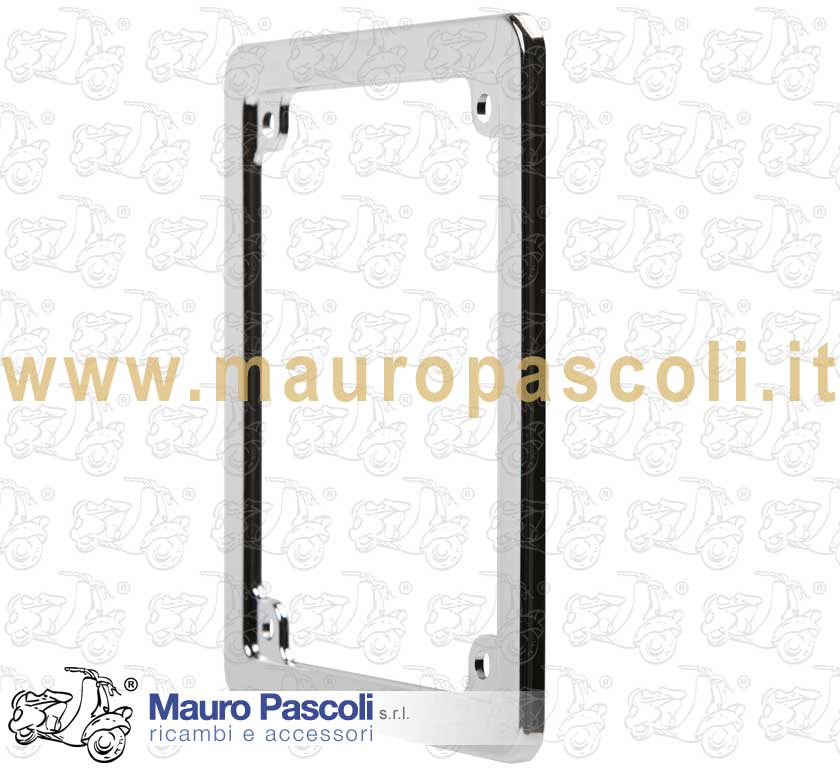 Frame of chromium plated plastic plate for mopeds