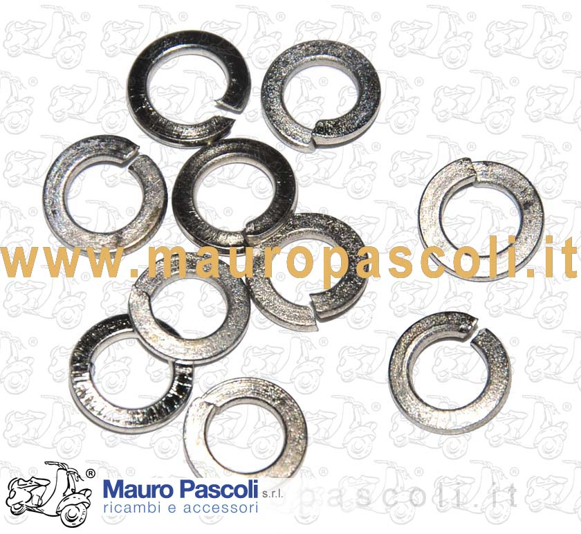 KIT 10 WASHER GROWER Nickel finish INNER DIAMETER mm.5