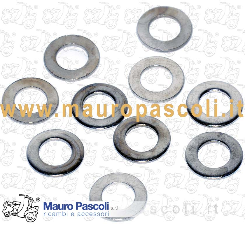 KIT N 10 FLAT WASHERS ZINCATE MM 7.