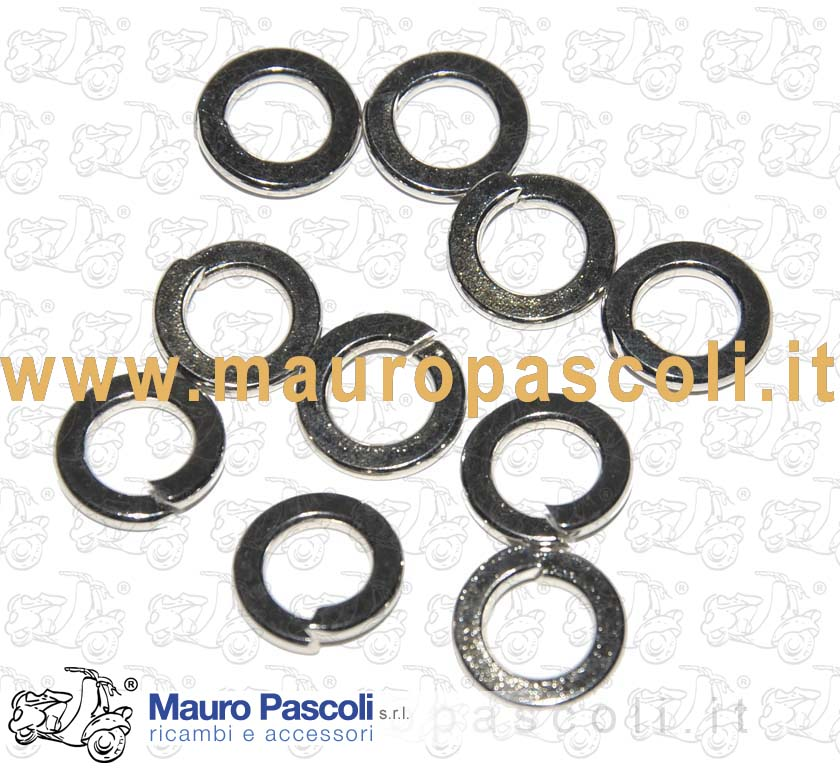KIT N 10 WASHER, Nickel WITH INSIDE DIAMETER 7 MM