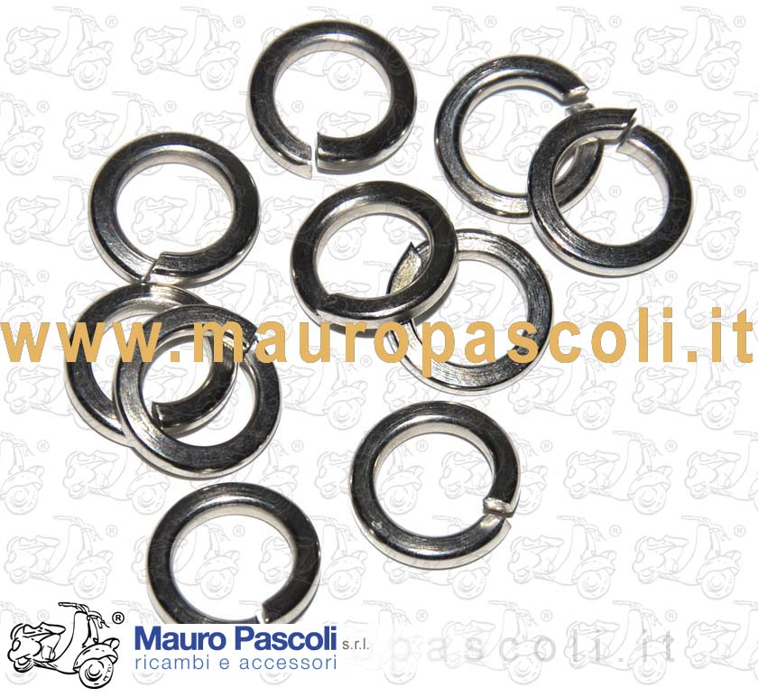 KIT 10 WASHER GROWER NICKEL FINISH  DA 8 MM REDUCED