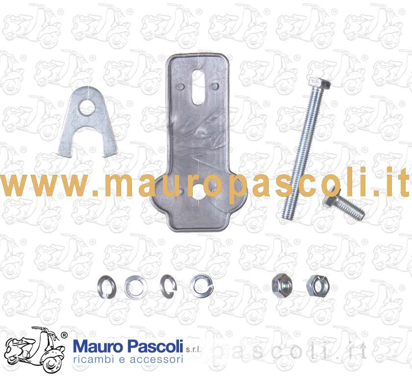 Rubber parts and bolts for spare wheel holder