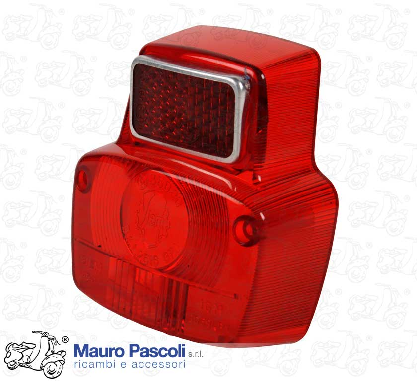 Rear light lens, plastic