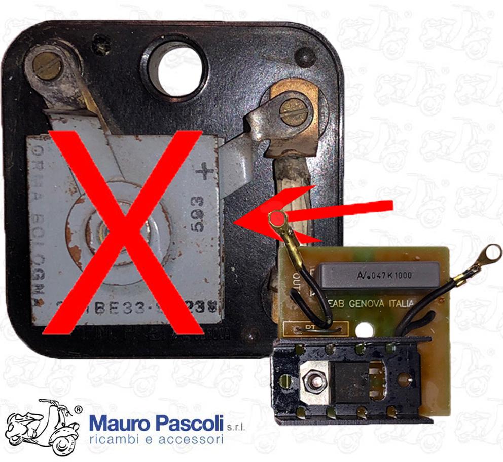 Raddrizzatore 6 v di tipo elettronico,ricambio per basetta originale. -  Mauro Pascoli