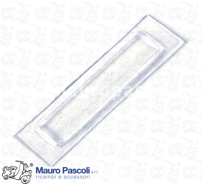 Glass for rear lamp number plate light