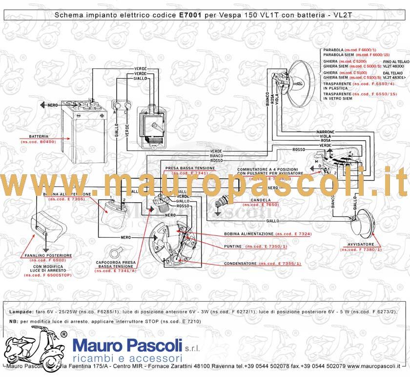 Schema Elettrico Vespa Px 125 Senza Batteria : Catalogo mauro pascoli
