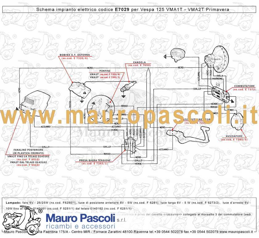 Schema Elettrico Et3 : Impianto elettrico vespa mauro pascoli