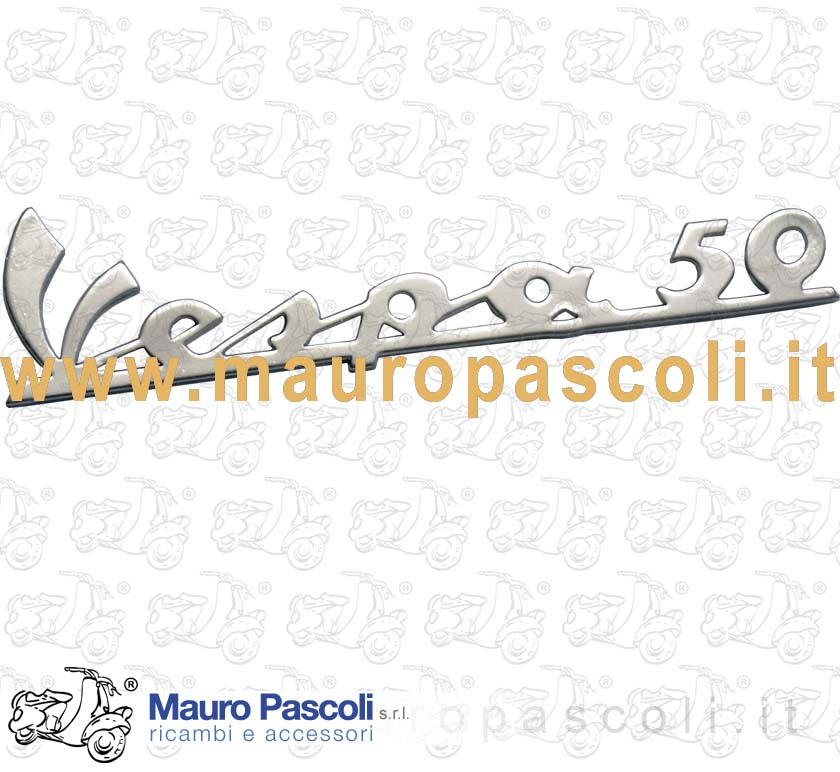 - Vespa 50 - Aluminium, chrome plated, with 3 pin