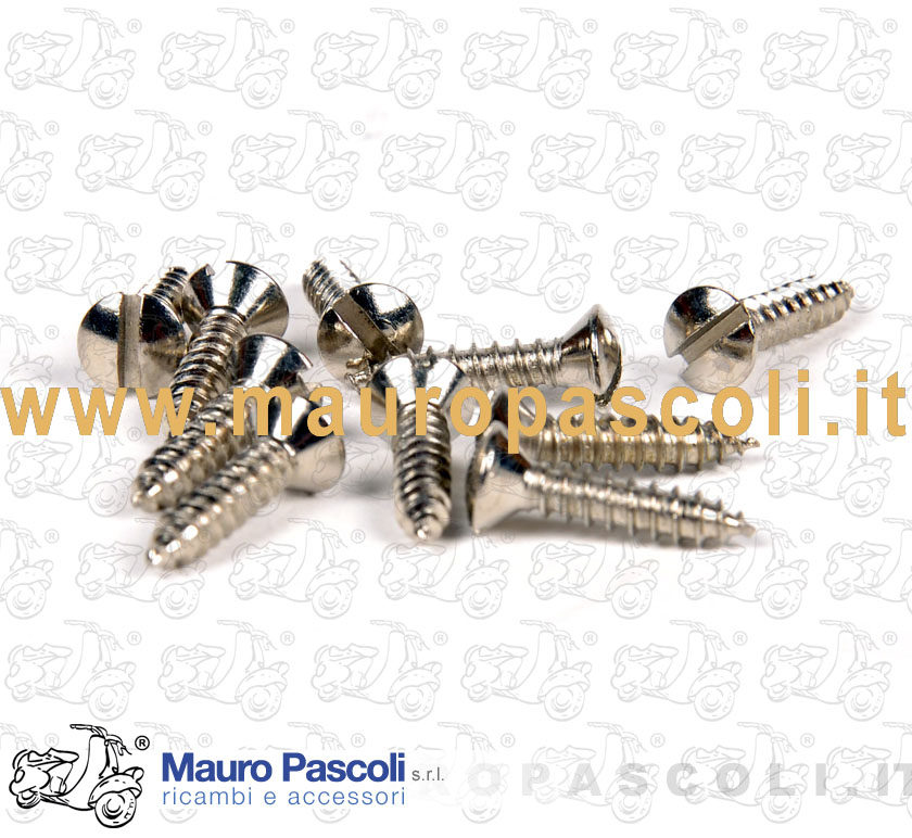 Kit No. 10 self-tapping screws for terminals nickel-cut platform
